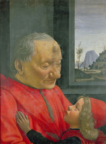 An Old Man and a Boy, 1480s by Domenico Ghirlandaio