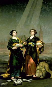 St. Justina and St. Rufina von Francisco Jose de Goya y Lucientes