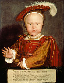 Portrait of Edward VI as a child von Hans Holbein the Younger