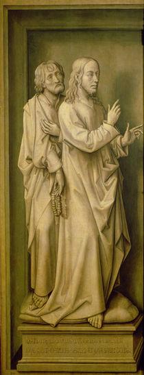 Christ and a Disciple, from the Redemption Triptych von Rogier van der Weyden