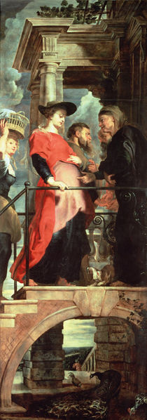 The Visitation, left panel from the Descent from the Cross Triptych von Peter Paul Rubens