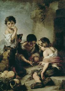 Boys Playing Dice, c.1670-75 by Bartolome Esteban Murillo