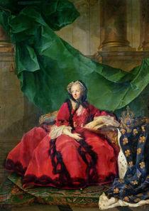 Portrait of Maria Leszczynska in Daily Dress von Jean-Marc Nattier