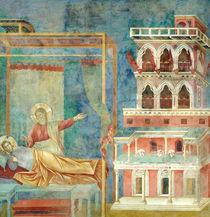 St. Francis Dreams of a Palace full of Weapons von Giotto di Bondone