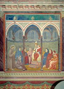 St. Francis Preaching a Sermon to Pope Honorius III by Giotto di Bondone