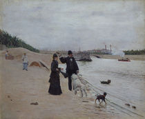 The Banks of the Seine, c.1880 by Jean Beraud