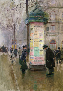 The Colonne Morris, c.1885 by Jean Beraud