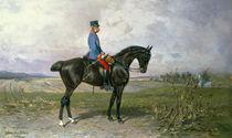 Emperor Franz Joseph I on his Austrian horse von Julius von Blaas