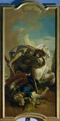 Death of the Consul Lucius Junius Brutus in a duel with Aruns by Giovanni Battista Tiepolo