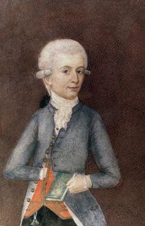 Wolfgang Amadeus Mozart, c.1780 von Johann Nepomuk della Croce