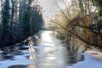 Fluss im Winter von Philippe Mendig