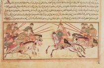 Battle between Mongol tribes by Islamic School