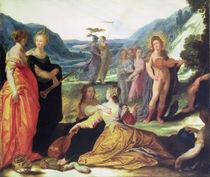 Apollo, Pallas and the Muses von Bartholomaeus Spranger