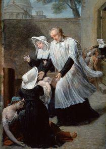 St. Vincent de Paul Helping the Plague-Ridden by Antoine Ansiaux