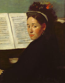Mademoiselle Marie Dihau at the piano von Edgar Degas