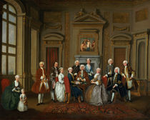 A Family in a Palladian Interior by Joseph Francis Nollekens