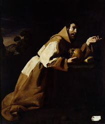 St. Francis in Meditation, 1639 by Francisco de Zurbaran
