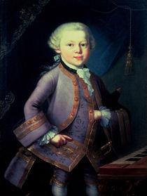 Wolfgang Amadeus Mozart , 1763 von Peter Anton Lorenzoni