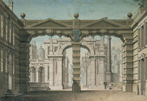 Set design for the world premiere performance of 'Idomeneo' von Lorenzo I Quaglio