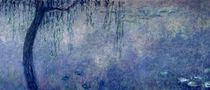 Waterlilies: Two Weeping Willows by Claude Monet