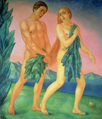 The Expulsion from Paradise by Kuzma Sergeevich Petrov-Vodkin