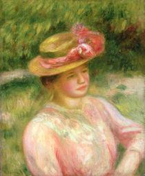 The Straw Hat, 1895 von Pierre-Auguste Renoir