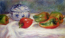 Still life with a sugar bowl and red peppers von Pierre-Auguste Renoir