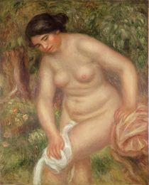 Bather drying herself, 1895 von Pierre-Auguste Renoir