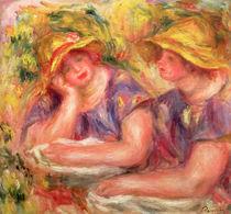 Two women in blue blouses, 1919 von Pierre-Auguste Renoir