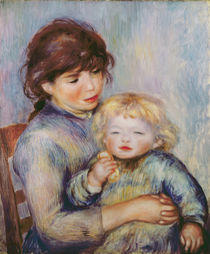 Maternity, or Child with a biscuit by Pierre-Auguste Renoir