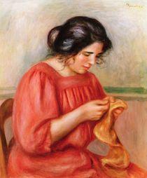 Gabrielle darning, 1908 von Pierre-Auguste Renoir