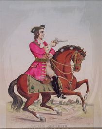 Captain MacHeath, the highwayman hero of 'The Beggar's Opera' by John Gay von English School