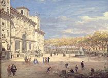 The Villa Medici, Rome, 1685 by Gaspar van Wittel