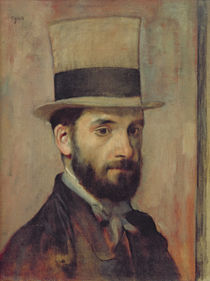 Portrait of Leon Bonnat c.1863 by Edgar Degas