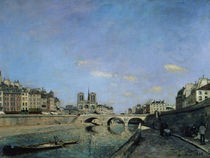 The Seine and Notre Dame in Paris by Johan-Barthold Jongkind