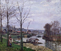 The Washing House, Pontoise Port-Marly by Camille Pissarro