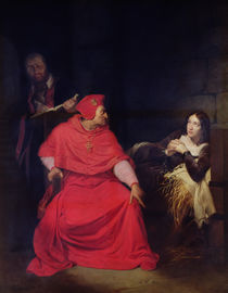 Joan of Arc and the Cardinal of Winchester in 1431 by Hippolyte Delaroche
