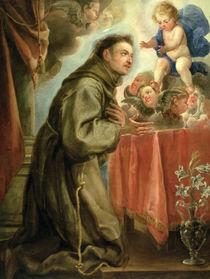 St. Anthony of Padua adoring the Christ Child by Don Juan Carreno de Miranda