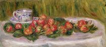 Still Life of Strawberries and a Tea-cup von Pierre-Auguste Renoir