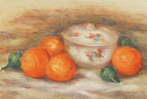 Still life with a covered dish and Oranges von Pierre-Auguste Renoir