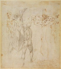 Male group and seated figure with child von Michelangelo Buonarroti
