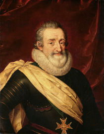 Portrait of Henri IV King of France by Frans II Pourbus