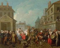 Street Carnival in Paris, 1757 von Etienne Jeaurat