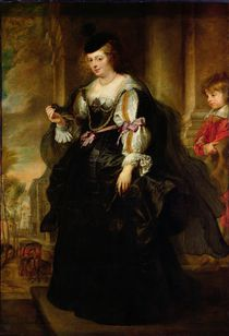 Portrait of Helene Fourment with a Coach von Peter Paul Rubens