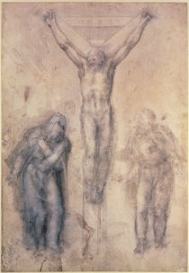 Inv.1895-9-15-509 Recto W.81 Study for a Crucifixion by Michelangelo Buonarroti