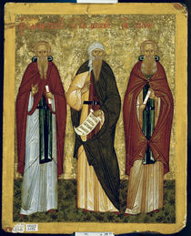St. John Climacus St. John of Damascus and St. Arsenius by Russian School