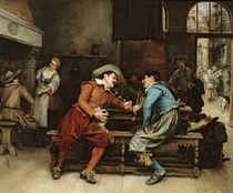Two Men Talking in a Tavern by Jean Charles Meissonier