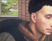 St. Ivo , detail of the Window and St. Ivo's Head von Rogier van der Weyden