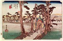 Fuji from Yoshiwara from 53 Stations of the Tokaido by Ando or Utagawa Hiroshige