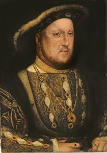 Portrait of Henry VIII c.1536 von Hans Holbein the Younger